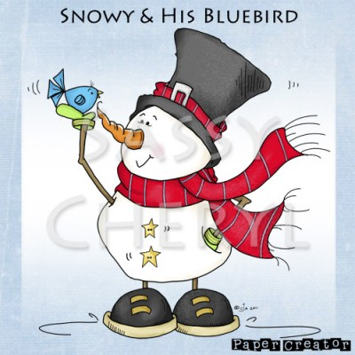 Snowy & His Bluebird