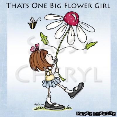 That's One Big Flower Girl